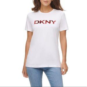 DKNY Sequin-Logo T-Shirt